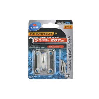 Zenith Square Eye Plates 8mm Stainless Steel - 1 Pack