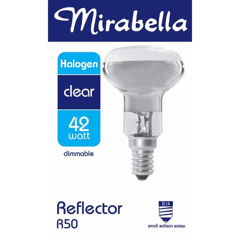 Mirabella Halogen Reflector Globe R50 42W SES Clear