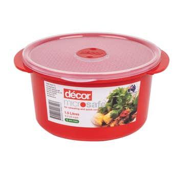 Decor Microsafe Round Container 1.5L