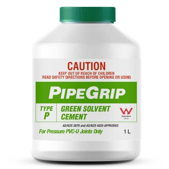Pipegrip Type P Green Solvent Cement 1L
