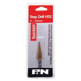 P&N Quickbit Impact Step Drill Metric