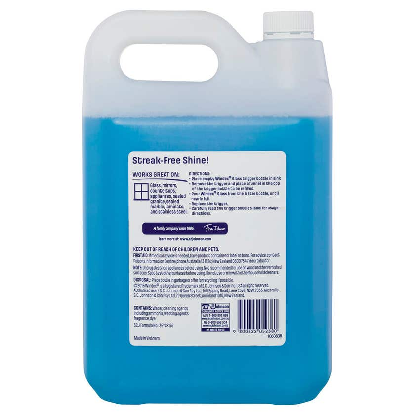 Windex Glass Cleaner Original 5L