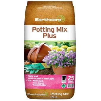 Earthcore Potting Mix Plus 25L