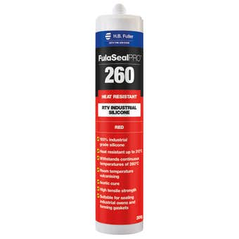 H.B. Fuller Silicone FulaSeal Pro 260 Heat Resistant Red 300g
