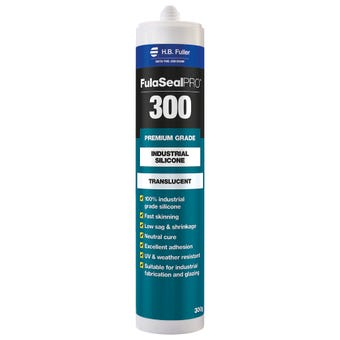 HB Fuller FulaSeal Pro 300 Industrial Silicone Translucent 300g