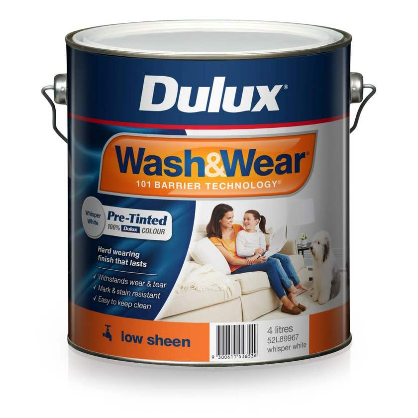 Dulux Wash & Wear Pre-Tinted Low Sheen Whisper White