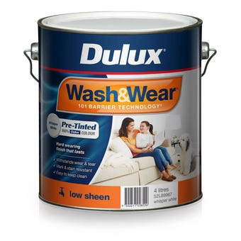 Dulux Wash & Wear Pre-Tinted Low Sheen Whisper White