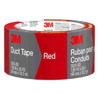 3M Cloth Duct Tape Red 48mm x 18.2m