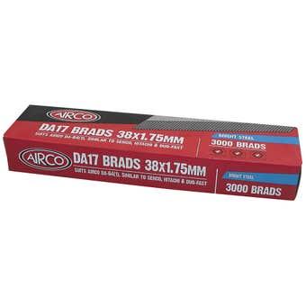 Airco DA17 Nail Brads 38mm - Box of 3000
