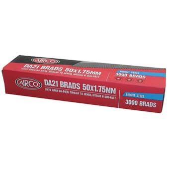 Airco DA21 Nail Brads 50mm - Box of 3000