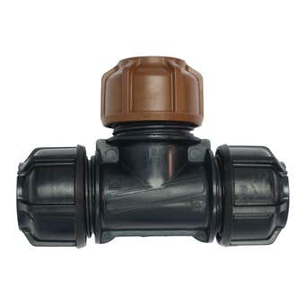 "Philmac 3G Metric Poly to Copper Tee 20 x 20mm x 1/2"""