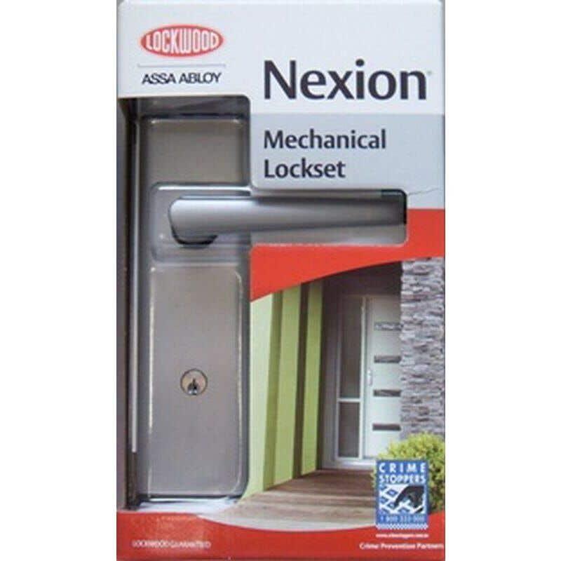 Lockwood Nexion Vision Mechanical Lockset Satin Chrome - 2 Pack