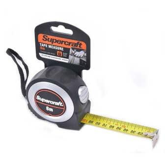 Supercraft Tape Measure Self Lock 8m