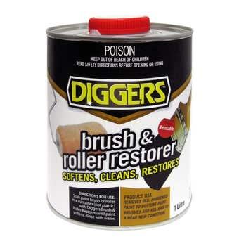 Diggers Brush & Roller Restorer 1L