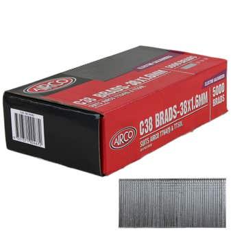 Airco C38 Brad Nails 38 x 1.6mm - Box of 5000