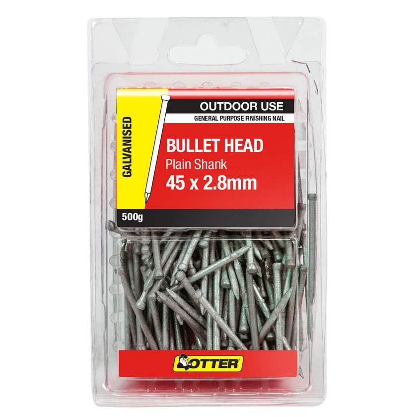 Otter Nails Bullet Head Galvanised 45 x 2.8mm 500g