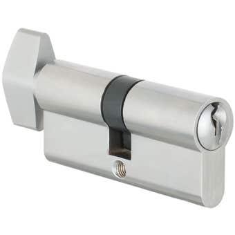 Delf Privacy & Turn Euro Cylinder Satin Chrome