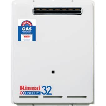 Rinnai Infinity Continuous Flow Hot Water System NG 50 Deg 32L