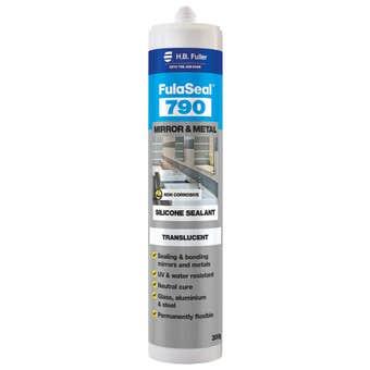 HB Fuller FulaSeal 790 Mirror & Metal Silicone Translucent 300g