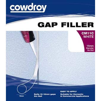 Cowdroy Foam Gap Filler Rods White 15mm x 5m