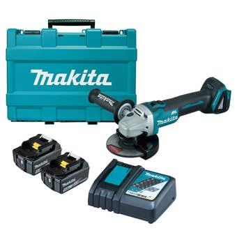 Makita 18V Brushless 125mm Slide Switch Angle Grinder Kit DGA504RTE