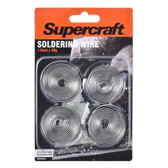 Supercraft Soldering Wire Set 4 Pieces 1mm x 40g