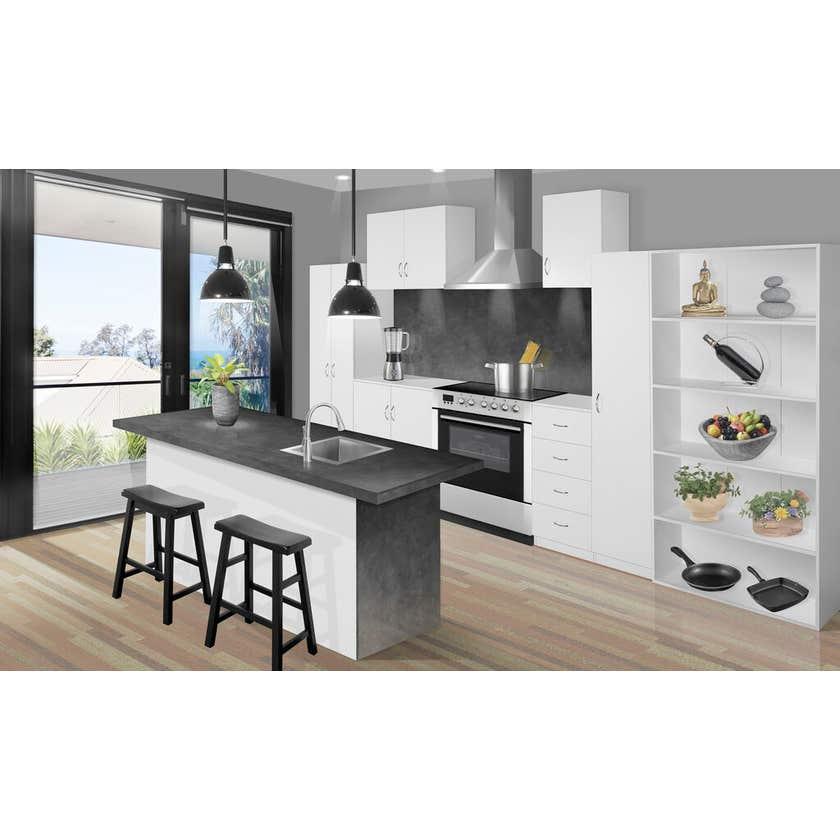 Faulkner 2 Door 6 Shelf Floor Unit 900mm