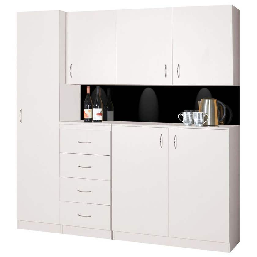 Faulkner 1 Door 4 Shelf Cabinet 400mm
