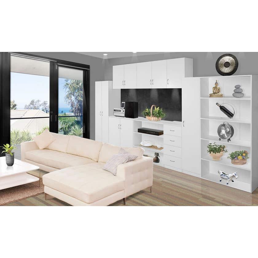Faulkner 2 Door 4 Shelf Cabinet 800mm
