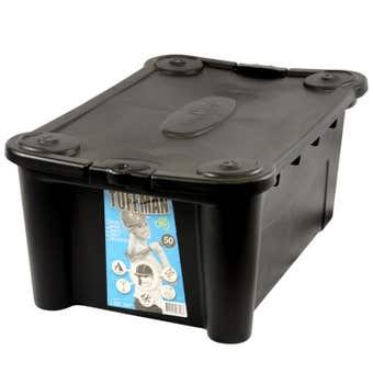 Tuffman Storage Container Black 50L