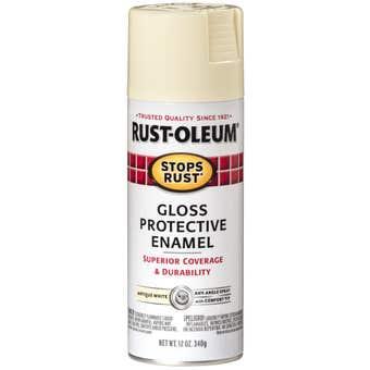 Rust-Oleum Stops Rust Gloss Antique White 340gm