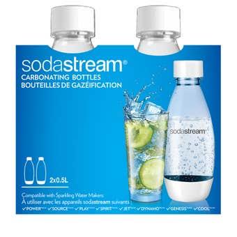 SodaStream White Twin Pack Bottles 0.5L