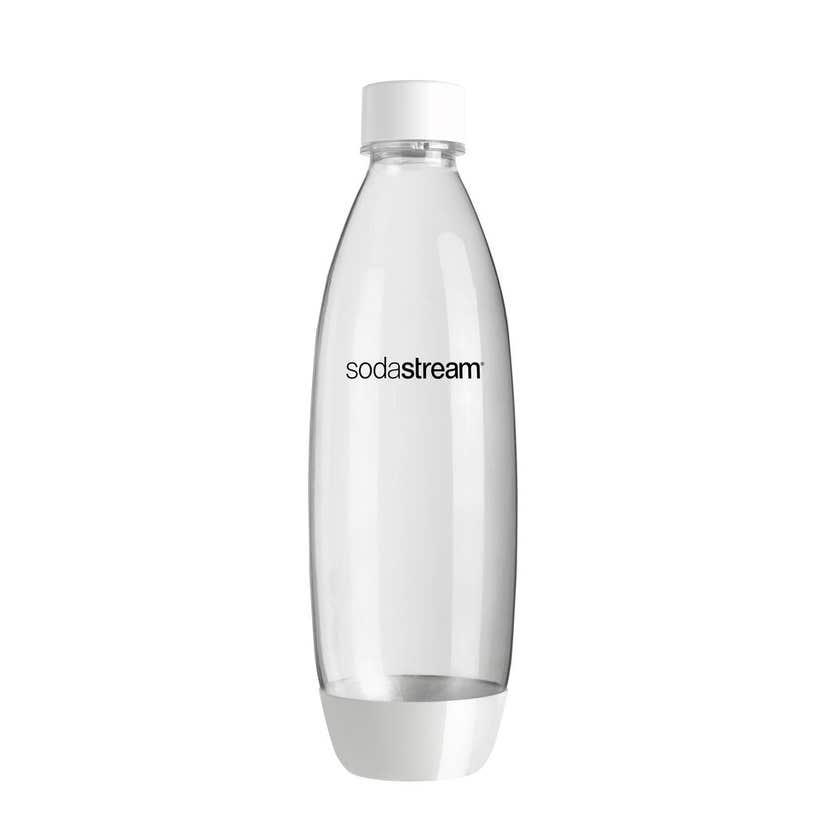 SodaStream White Plastic Twin Pack Bottles 1L