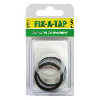 FIX-A-TAP Pop-Up Plug Washers 4 Pack