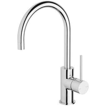 Phoenix Vivid Slimline Sink Mixer Gooseneck Chrome 160mm