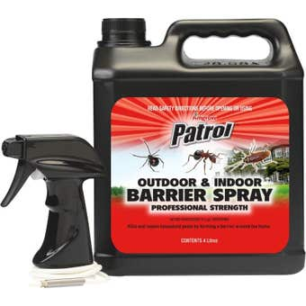 Amgrow Patrol Outdoor & Indoor Insect Barrier Spray 4L