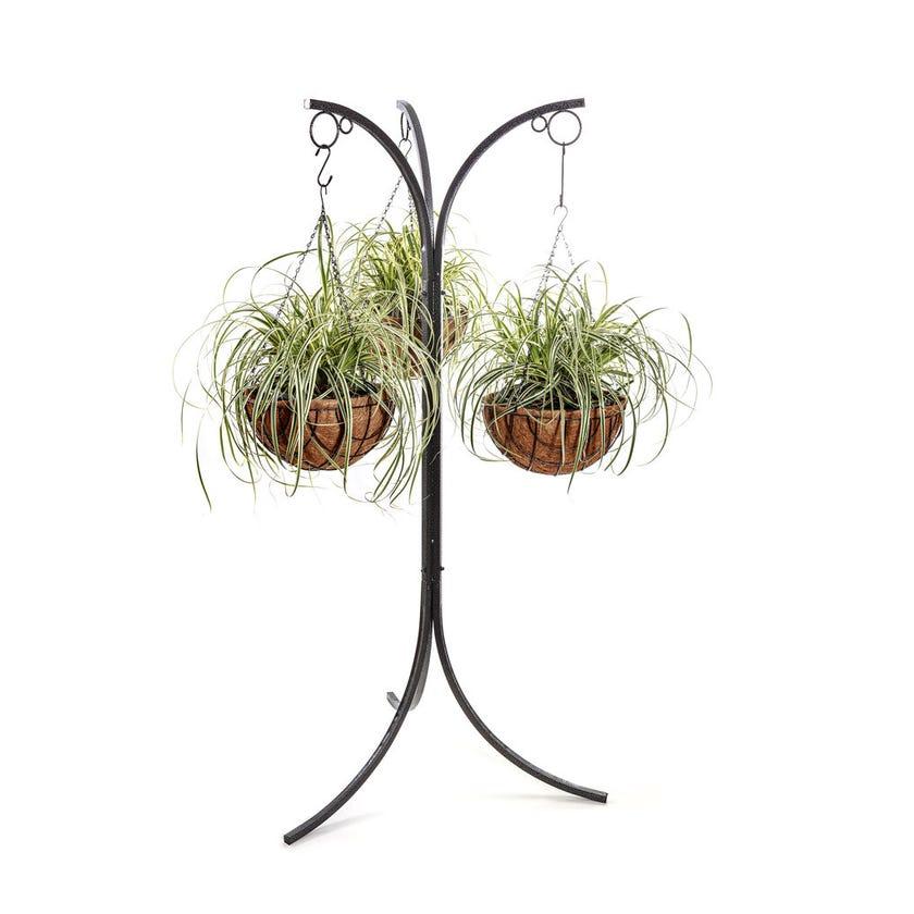Hanging Basket Stand Hammertone 3 Hanger