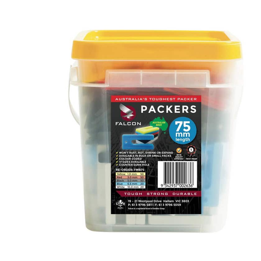Falcon Packers Mixed Bucket 5 sizes 75mm - 260 Pack