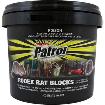 Amgrow Patrol Rodex Rat Blocks 40x25g