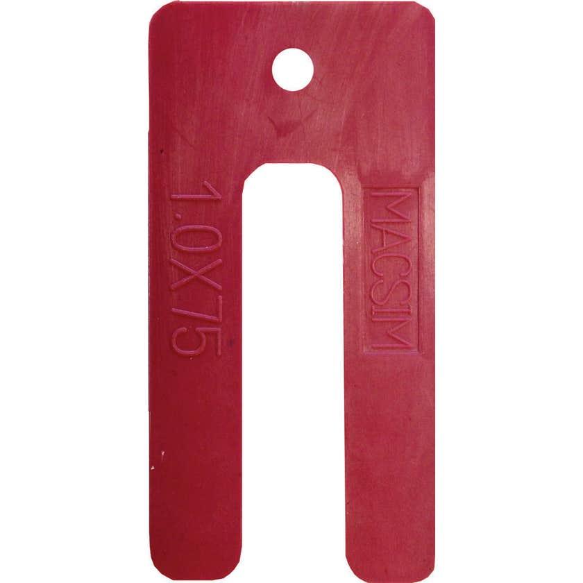 Macsim Window Packers Red 1.0 x 75mm - 200 Pack