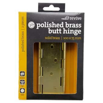 Trio Door Hinge Solid Brass 100 x 75 x 3.0mm - CD2