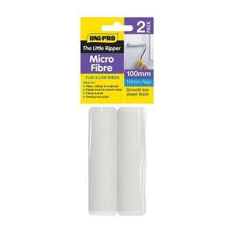 Uni-Pro Little Ripper Micro-Fibre Roller Cover 100mm 10mm Nap - 2 Pack