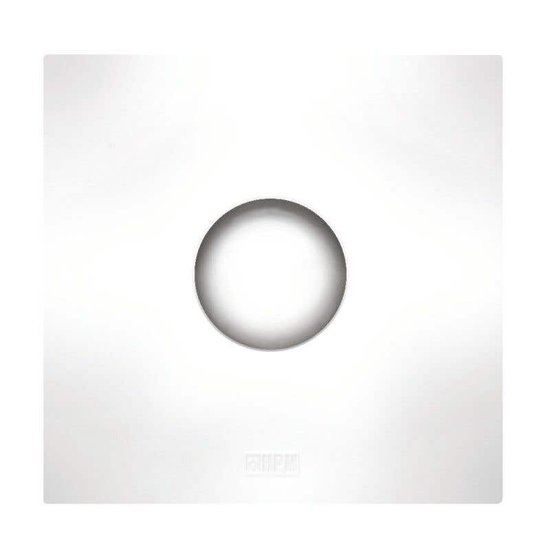 HPM Wall Fan Square White 100mm