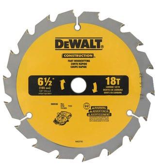 DeWALT Construction Circular Saw Blade 18T 165mm