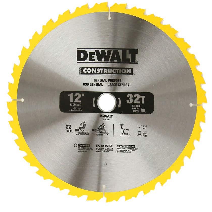 DeWALT Construction Circular Saw Blade 32T 305mm