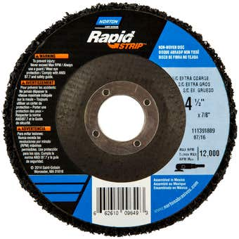 Norton Rapid Strip Disc Extra Coarse 115 x 22mm