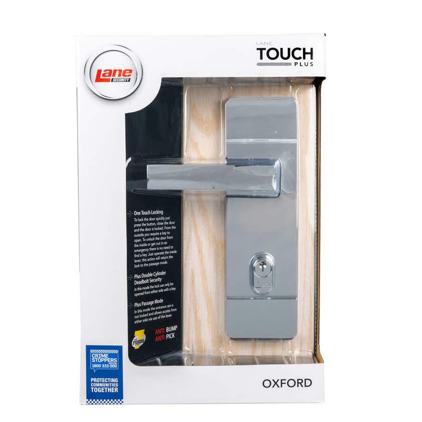 Lane Oxford Touch Plus Lockset Polished Chrome