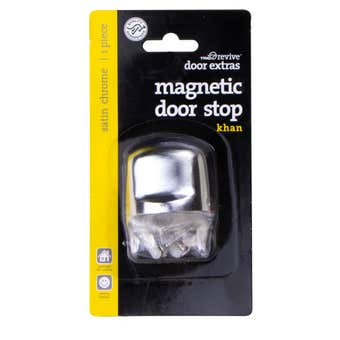 Trio Khan Magnetic Doorstop Satin Chrome 38mm