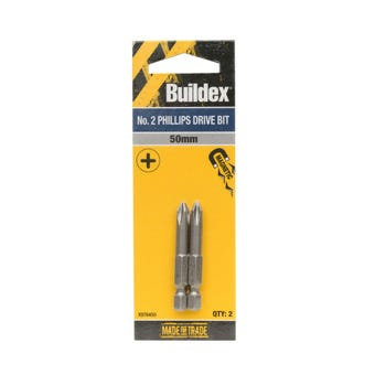 Buildex® Bit Phillips No. 2 50mm - 2 Pack
