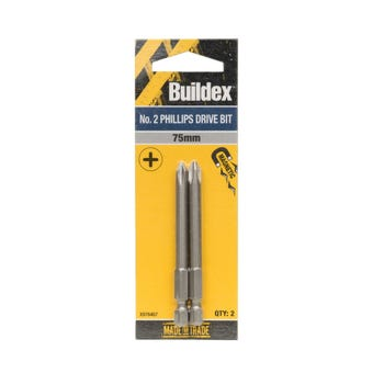 Buildex® Bit Phillips No. 2 75mm - 2 Pack